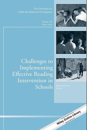 Challenges to Implementing Effective Reading Intervention in Schools, CAD 154