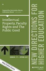 Intellectual Property, Faculty Rights and the Public Good (J-b He Single Issue Higher Education)