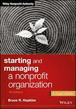 Starting and Managing a Nonprofit Organization (Wiley Nonprofit Authority)