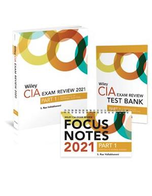 Wiley CIA Exam Review 2021 + Test Bank + Focus Notes: Part 1, Essentials of Internal Auditing Set