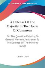 A Defense of the Majority in the House of Commons af Charles Lloyd
