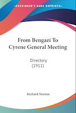 From Bengazi to Cyrene General Meeting af Richard Norton