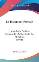 Le Testement Romain af Charles Appleton