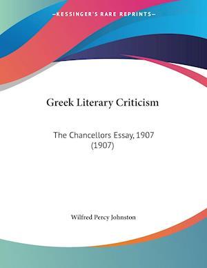 Greek Literary Criticism