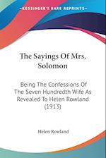 The Sayings of Mrs. Solomon af Helen Rowland