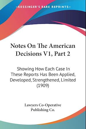 Notes On The American Decisions V1, Part 2