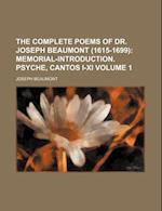 The Complete Poems of Dr. Joseph Beaumont (1615-1699) Volume 1 af Joseph Beaumont