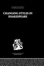 Changing Styles in Shakespeare