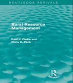 Rural Resource Management (Routledge Revivals) (Routledge Revivals)