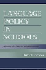 Language Policy in Schools af David Corson