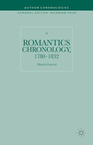 A Romantics Chronology, 1780-1832