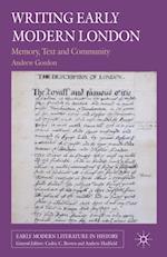 Writing Early Modern London