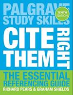 Cite Them Right (Palgrave Study Skills)