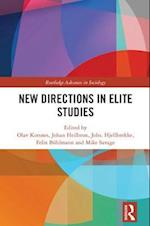 New Directions in Elite Studies (Routledge Advances in Sociology)
