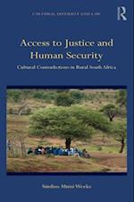 Access to Justice and Human Security (Cultural Diversity and Law)