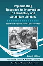 Implementing Response-to-Intervention in Elementary and Secondary Schools af Matthew K. Burns