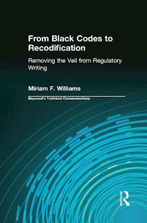 Bog, paperback From Black Codes to Recodification af Miriam F. Williams