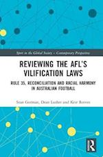 Reviewing the AFL's Vilification Laws (Sport in the Global Society - Contemporary Perspectives)