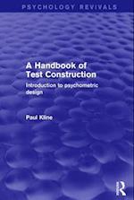 A Handbook of Test Construction