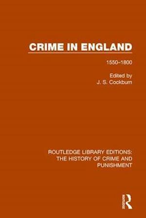 Bog, paperback Crime in England af J. S. Cockburn