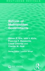 Reform of Metropolitan Governments af Steven P. Erie, John J. Kirlin, Francine F. Rabinovitz