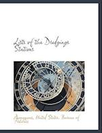 Lists of the Dredgings Stations