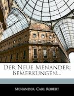 Der Neue Menander af Carl Robert, Menander