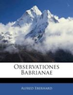 Observationes Babrianae af Alfred Eberhard