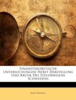 Finanztheoretische Untersuchungen