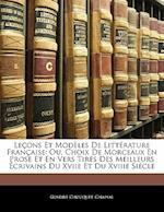 Lecons Et Modeles de Litterature Francaise af Gustave Chapsal, Gustave Chouquet
