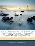 Histoire D'Herodote af Herodotus, Pierre-Henri Larcher, Pierre-Henri Ctesias