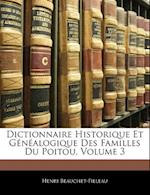 Dictionnaire Historique Et Genealogique Des Familles Du Poitou, Volume 3 af Henri Beauchet-Filleau