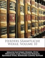 Herders Sammtliche Werke, Volume 10 af Carl Christian Redlich, Johann Gottfried Herder, Otto Hoffmann