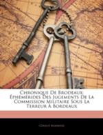 Chronique de Brodeaux af Graud Marmisse, Geraud Marmisse