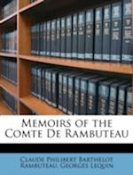 Memoirs of the Comte de Rambuteau af Georges Lequin, Claude Philibert Barthelot Rambuteau