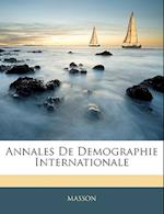 Annales de Demographie Internationale af Masson