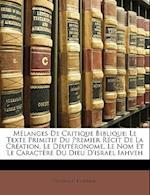 M Langes de Critique Biblique af Gustave D'Eichthal