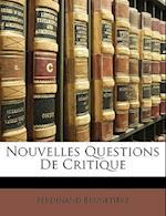 Nouvelles Questions de Critique