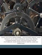 Laws of New Hampshire af New Hampshire, Albert Stillman Batchellor