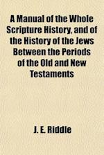 A Manual of the Whole Scripture History, and of the History of the Jews. Between the Periods of the Old and New Testaments af J. E. Riddle