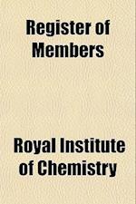 Register of Members af Royal Institute Of Chemistry