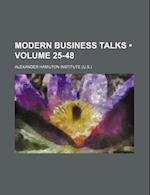 Modern Business Talks (Volume 25-48) af Alexander Hamilton Institute