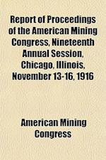 Report of Proceedings of the American Mining Congress, Nineteenth Annual Session, Chicago, Illinois, November 13-16, 1916 af American Mining Congress