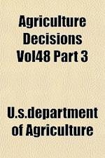 Agriculture Decisions Vol48 Part 3