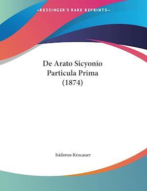De Arato Sicyonio Particula Prima (1874)