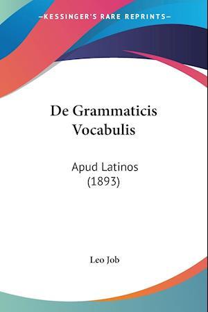 De Grammaticis Vocabulis