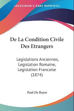 De La Condition Civile Des Etrangers