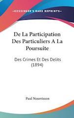 de La Participation Des Particuliers ALA Poursuite af Paul Nourrisson