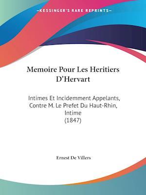Memoire Pour Les Heritiers D'Hervart