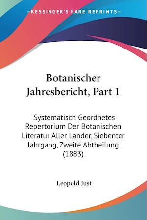 Botanischer Jahresbericht, Part 1